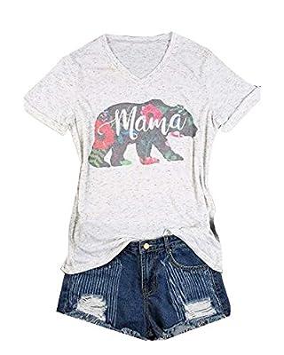 Maconsttt Women's Shirt , Floral Printed Casual T-Shirt Blouse