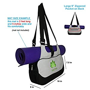 "COMPACT YOGA MAT BAG / Stylish, Efficient & Lightweight / 16""x8"" / Perfect For Yogis Needing Durable Eco Friendly Bag To Carry The Essentials"