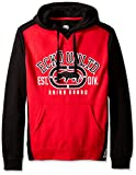 Ecko UNLTD Men's Arch Rhino Pull Over Applique Hooded Fleece, Red, 2X-Large