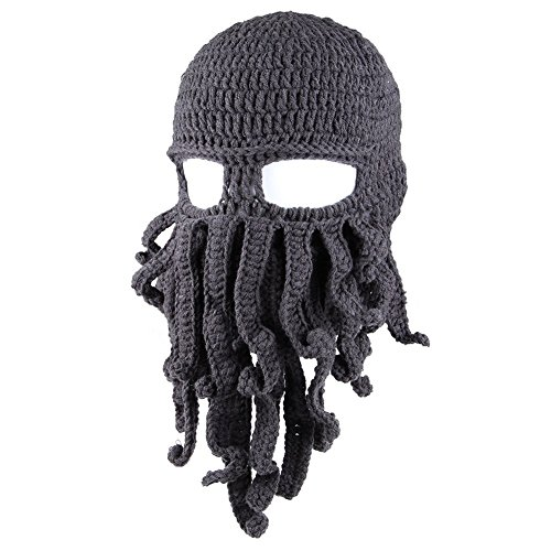 Amurleopard Unisex Barbarian Knit Beanie Octopus (One Size, - Cap Sunglasses