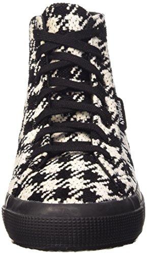 Superga 2795-woolwpieddepoule - Zapatillas de deporte Mujer Negro / Blanco