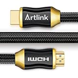 HDMI Cable 6.6 Ft - Artlink High Speed HDMI 2.0 Cable 18Gbps [Supports 4K 2160p, HD 1080p, 3D, ARC, Ethernet] - 28AWG Braided Cord for PC, TV, Xbox One/360, PS4/3, Projector, Blu-ray Player