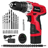 Avid Power 12V Cordless Drill, Power Drill Set with 22pcs Impact Driver/Drill Bits, 2 Variable Speed, 3/8'' Keyless Chuck, 15+1 Torque Setting
