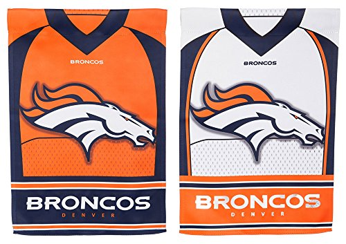 Team Sports America Denver Broncos Double Sided Jersey Suede