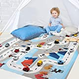 interesting bedroom wood tile Nesee Kids game Carpet, Learn & Have Fun Safe, Children's Educational, Road Traffic System, Multi Color Activity Centerp Play Mat! Great For Playing With Cars For Bedroom Playroom