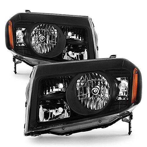 ACANII - For Black 2009 2010 2011 Honda Pilot Headlights Headlamps Driver + Passenger Side Aftermarket ()