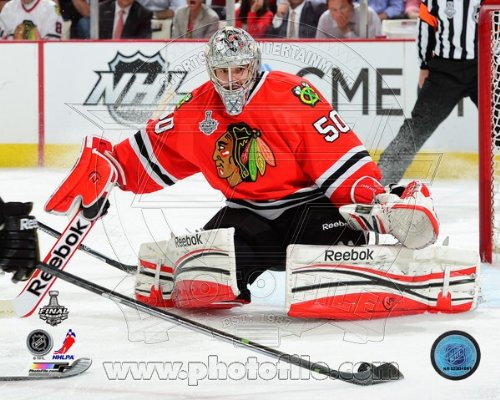 Corey Crawford Chicago Blackhawks 2013 Stanley Cup Finals Game 1 Photo 8x10