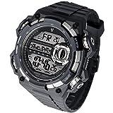 De los hombres reloj deportivo digital resistente al agua Electronic retroiluminación LED Cronómetro Relojes de cuarzo para los hombres