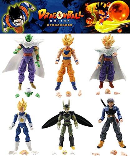 Hot 6pcs action figures DBZ Goku Anime Vegeta SHF S.h.Figuarts Toys