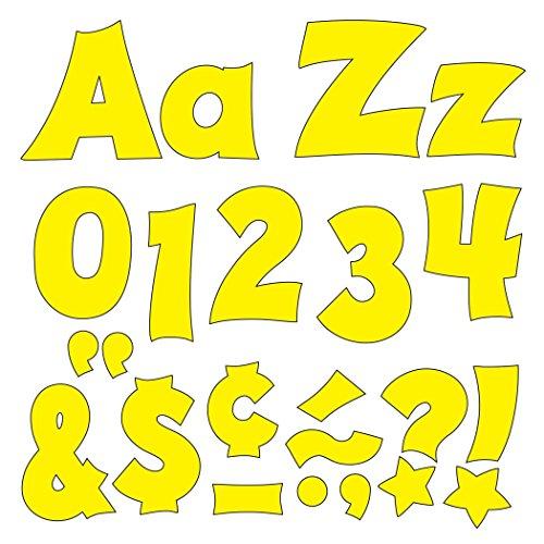 "TREND enterprises, Inc. T-79804 Yellow 4"" Friendly Combo Ready Letters"