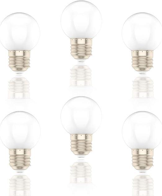1W E27 Bombilla Led,Bianco,Equivalente a 8W,Pack De 6: Amazon.es: Iluminación