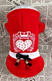 Genda 2Archer Red Lovely Queen Heart Dog Hoodie Adorable Casual Coat Outfit for Dog For Sale