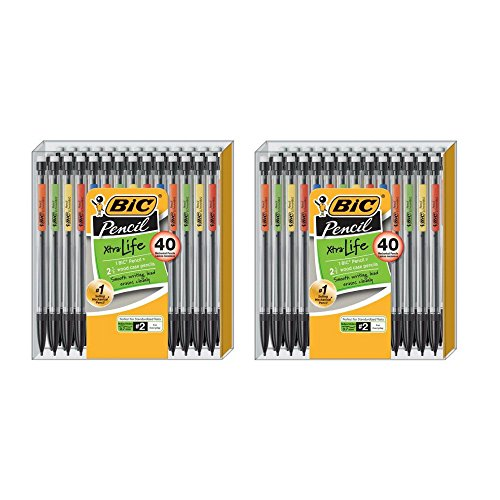 BIC Xtra Life Mechanical Pencil, Medium Point (0.7 mm), 40-Pack - 2 Box