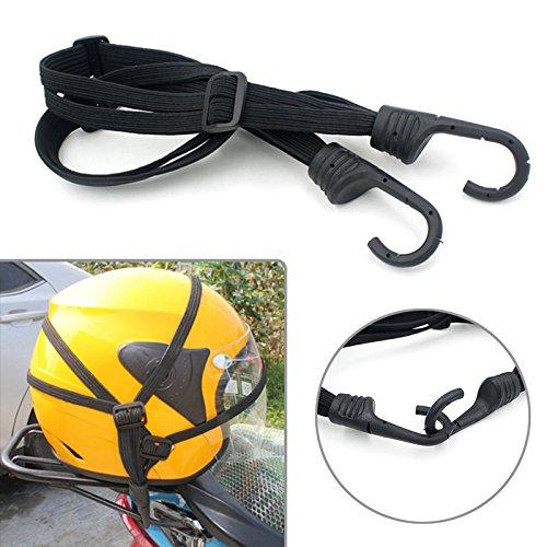 Sedeta Cuerda casco de la motocicleta equipaje Almacenamiento fijo Correa Elá sticas banda de cuerdas Cuerdas netas
