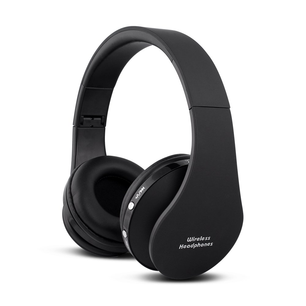 FX-Viktaria Dual Mode Wireless Over-Ear Headphone On Ear Headphone Stereo Headset Lightweight Design, Compatible with iPods, iPhones, iPads, Smartphones, Tablets, PC and Laptops-Black