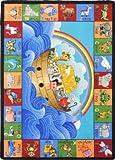 Kid Essentials - Inspirational Area Rugs Noah's Alphabet Animals Multi