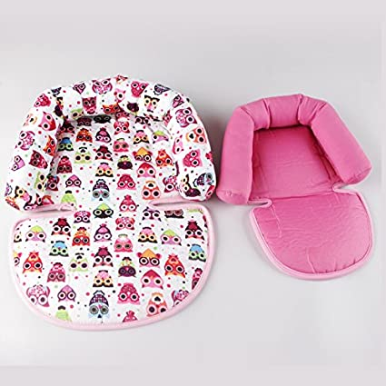 2-in-1 Infant CarSeat headrest Insert Cushion Soft Head Support Pillow Cushion for Strollers Swings AIPINQI Baby Head Support for Car Seats Pink
