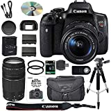 Canon EOS Rebel T6i DSLR Camera Bundle with Canon EF-S 18-55mm IS STM Lens + Canon EF 75-300mm III Lens + 64GB SDXC Memory Card + Accessory Kit - International Version