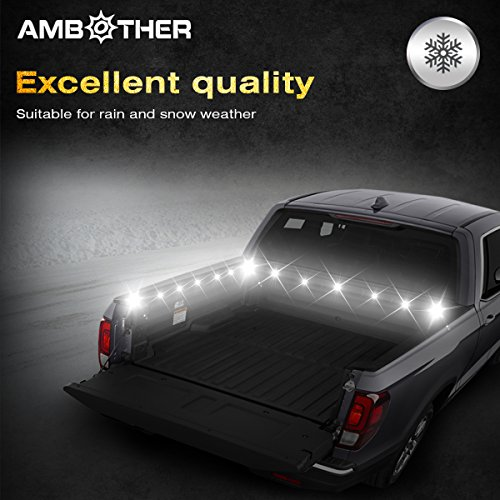 AMBOTHER-16-LED-High-Intensity-Law-Strobe-Emergency-light-Hazard-Police-Warning-Flash-Flashlight-Enforcement-Lights-18-Modes-for-Interior-RoofDash-Windshield-with-Suction-Cups-Amber