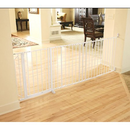 Regalo 59 Inch Super Wide and Secure Maxi Walk Through Baby Gate Includes 4