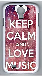 Samsung Galaxy S4 I9500 White Hard Case - J Keep Calm And Love Mouse Galaxy S4 Cases by supermalls