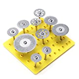Diamond Cutting Wheel, BABAN 10X 1/8' Diamond Saw Cut Off Discs Wheel Blades Rotary Tool Set Shank