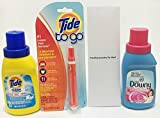 Tide Simply Clean and Fresh Travel Laundry Detergent, Downy Fabric Softener and Tide To Go Instant Stain Remover Bundle