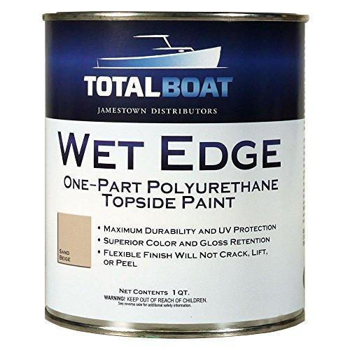 TotalBoat Wet Edge Topside Paint (Sand Beige, Quart) ()
