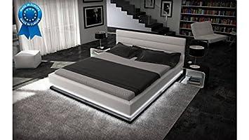 Lit Design à Led Giovani Blanc 140x190 Cm Amazonfr Cuisine Maison
