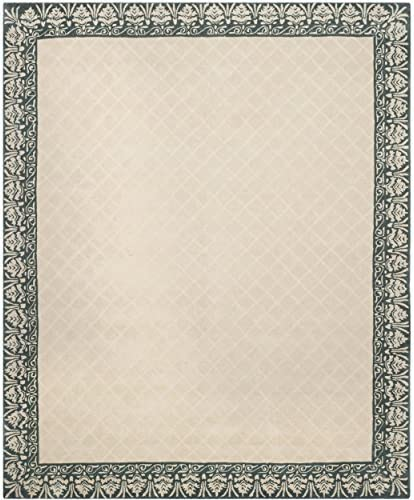Safavieh Total Performance Collection TLP755E Ivory and Blue Area Rug, 9 x 12
