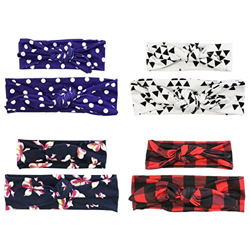 ALLYDREW Mommy & Me Headbands Matching Hair Bands for Mother & Child (set of 4), Hip