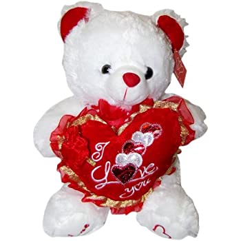 "Amazon.Com: Valentine'S Teddy Bear (15"") Says ""I Love You"" When"