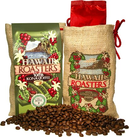Hawaii Roasters Award Winning 100% Kona Coffee, Whole Bean, Medium Roast, 7-Ounce Bags