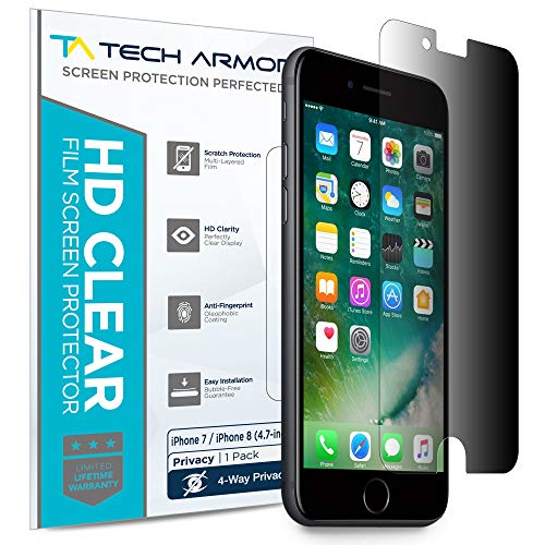 Tech Armor 4Way 360 Degree Privacy Film Screen Protector for Apple iPhone 7 / iPhone 8 (4.7-inch) [1-Pack]