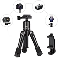 Camera Tripod -Albott 20 inches Desktop Tabletop Mini Camera Tripod with Quick Release Plate and Adjustable Phone Stand for Canon Nikon DSLR Camera iPhone Samsung Phone