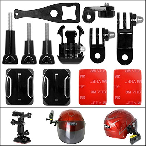 Victool Action Camera 12in1 Helmet Side Mount Kit Adhesive Mount Combo for GoPro Helmet Mount for SONY GoPro Hero 5 / 4/3+/3/ Session / SJCAM SJ4000 SJ5000 / Garmin Virb - Festival Style Blog