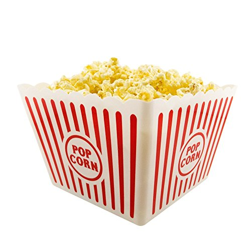 "Plastic Popcorn Tub - 8.5"" Square, 3 Pack by Greenbrier (3)"