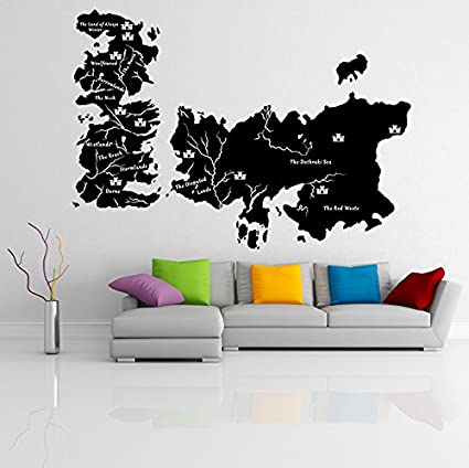 Amazon Com 71 X 50 Vinyl Wall Decal World Map Game Of