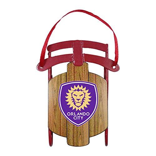 Boelter Brands MLS Orlando CITY SC Metal Sled Ornament ()