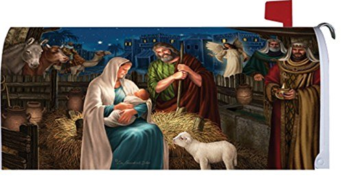 Beautiful Nativity 1722MM Magnetic Mailbox