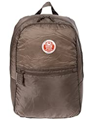 Planet E Lightweight Travel Fold Away Carry-On Backpack by Eco-Stream Brown