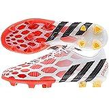 Adidas Predator Instinct FG Soccer Cleat (Core White, Solar Red) Sz. 9