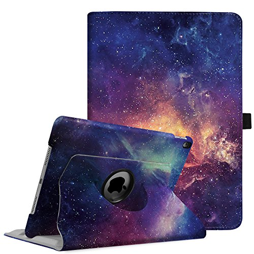 Fintie iPad Pro 10.5 Case - 360 Degree Rotating Stand Protective Cover with Auto Sleep/Wake Feature for Apple iPad Pro 10.5 Inch 2017 Tablet, Galaxy