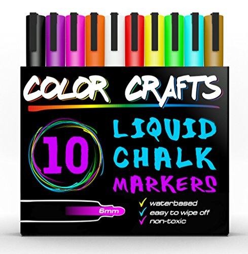 Amazing Liquid Chalk Markers - Genuine Artist Quality - Ultimate 10 Color Marker Paint Pen Set - Good For Kids