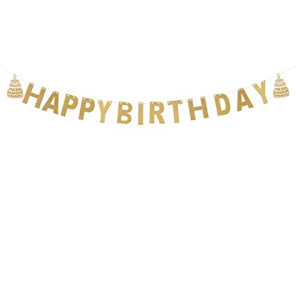 happy birthday letter and cake pattern paper bunting banners string birthday flags garland hanging decorations photo