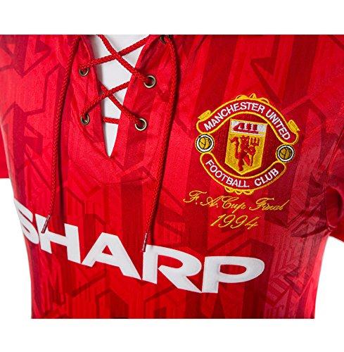 Eric Cantona Firmado - Manchester United camisa 1994 FA Cup Final: Amazon.es: Hogar
