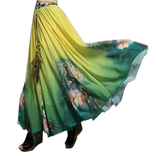 Blancho Belle Femme Jupe Jupe longue Jupe de bohme Multicolore