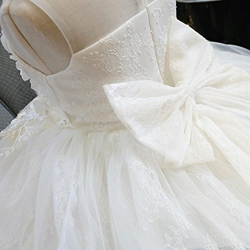 Amazon.com: Ann and Grace Off White Lace and Tulle Flower Girl Dress, Christening First Communion Baptism: Clothing