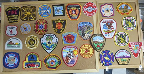 WYOMING FIRE/RESCUE DEPARTMENT PATCHES! LOT OF 29!