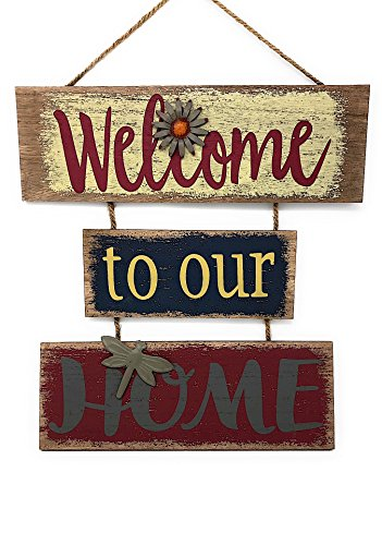 Welcome Home Door - Welcome Home Sign for Wall Front Door Decor Indoor Outdoor 16